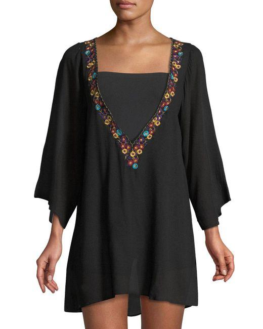 Haute Rogue - Black 3/4-sleeve Pullover Dress - Lyst