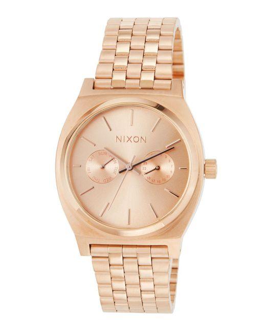 Nixon - Metallic 37mm Time Teller Deluxe Bracelet Watch - Lyst