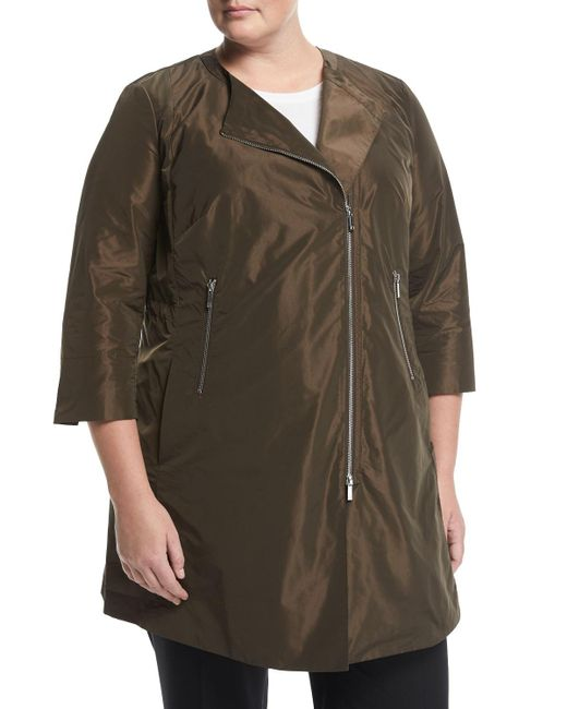 Lafayette 148 New York - Brown Shelby Zip-front Jacket - Lyst