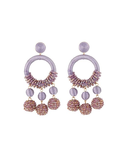 Lydell NYC - Purple Wrapped Hoop Drop Earrings - Lyst