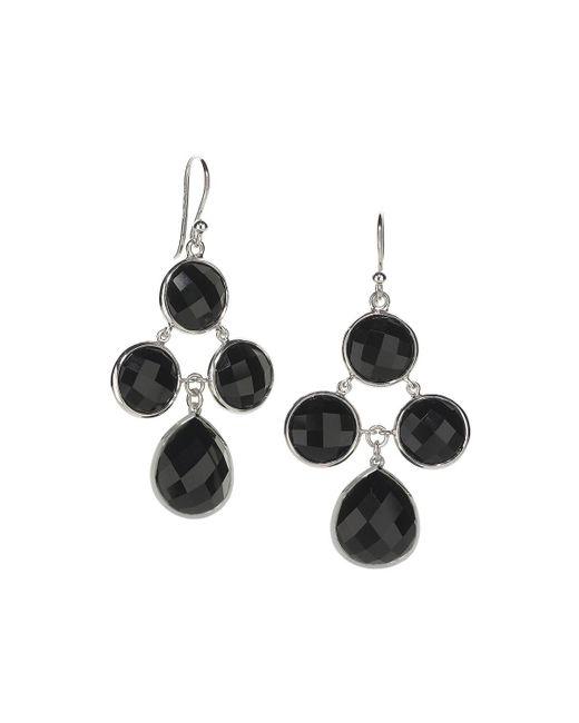 Elizabeth Showers | Metallic Audrey Black Onyx Chandelier Earrings | Lyst