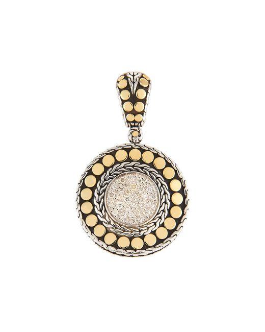 John Hardy - Metallic Dot Round Diamond Pendant - Lyst