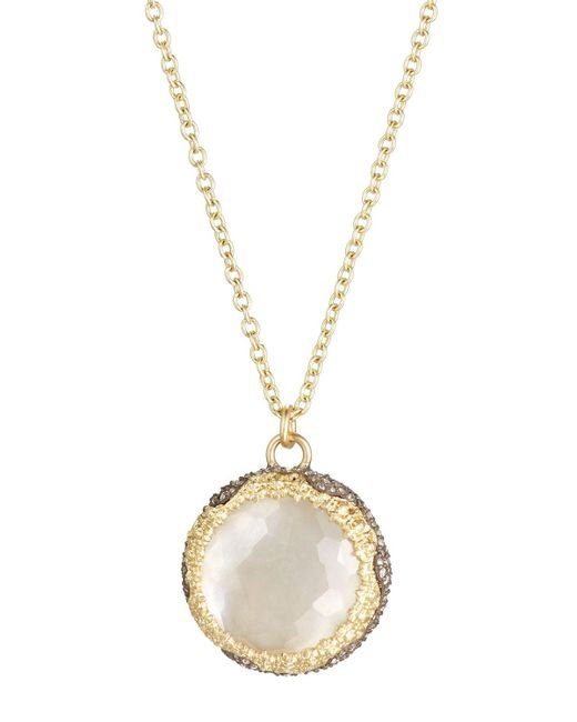 Armenta - Gray Old World Round Chalcedony & Diamond Pendant Necklace - Lyst