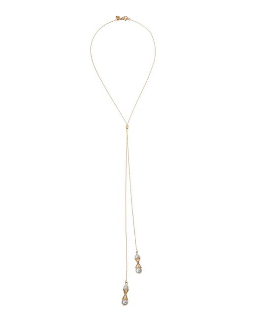 Lydell NYC - Multicolor Double-strand Y-drop Necklace W/ Pearly Accents - Lyst