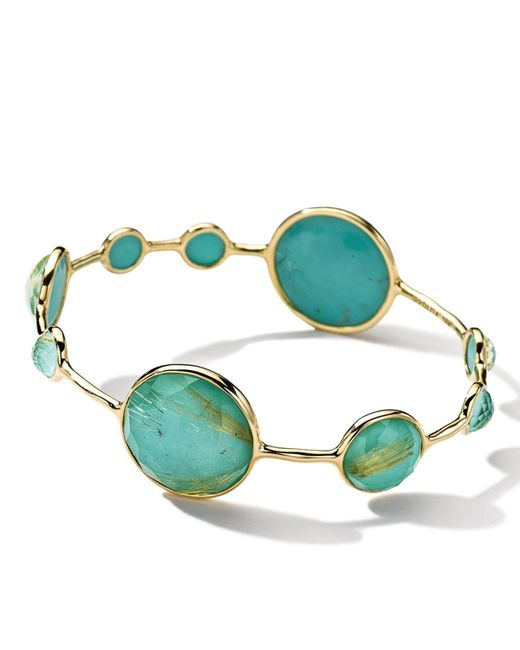 Ippolita | Green Rock Candy Lollipop 18k Quartz & Pyrite Doublet Bangle | Lyst