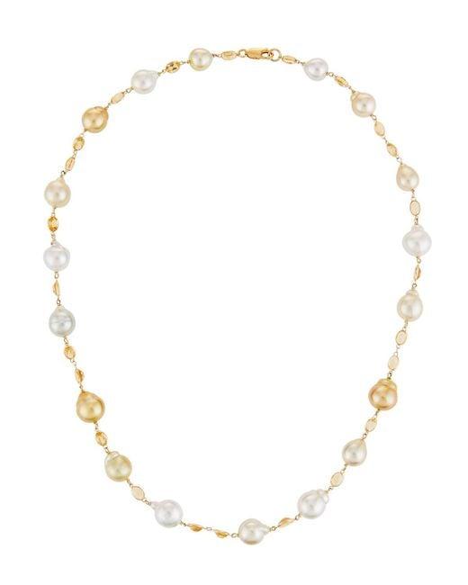 Belpearl - Metallic 18k Citrine & Two-tone Pearl Necklace - Lyst