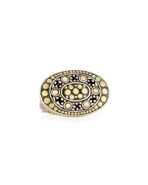 John Hardy - Metallic Dot Oval East-west Ring - Lyst