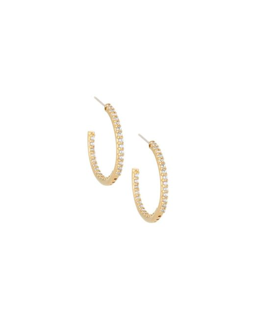 Fantasia by Deserio - Metallic 22k Gold-plated Cz Crystal Hoops - Lyst
