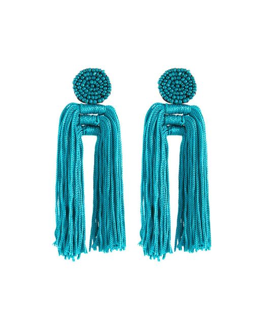 Panacea - Blue Nylon Multi-tassel Earrings - Lyst