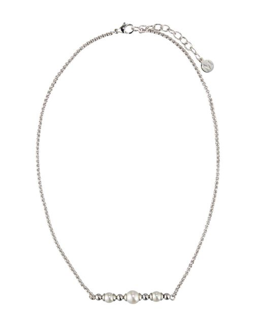 Majorica - White Allison Pearl & Ball Bead Necklace - Lyst