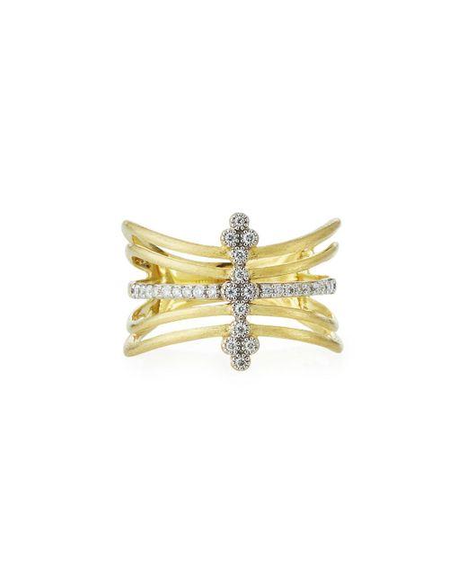 Jude Frances - Metallic 18k Provence Five-row Diamond Ring - Lyst