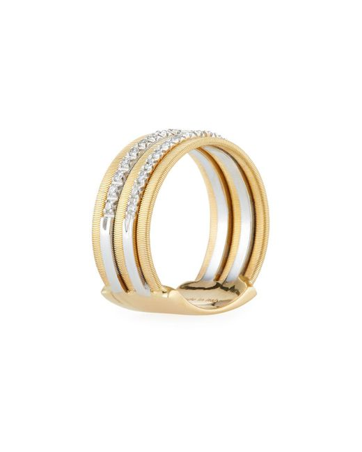 Marco Bicego | Metallic Goa 18k Gold Five-row Double Pave Diamond Ring | Lyst