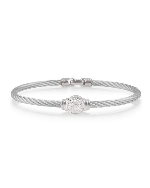 Alor - Metallic Pave Round Diamond Cable Bracelet - Lyst