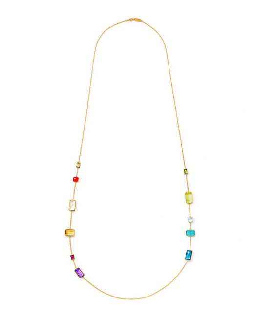 Ippolita | Metallic 18k Gelato Long 11-stone Station Necklace In Summer Rainbow | Lyst