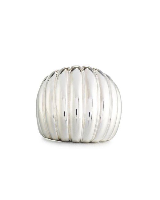 John Hardy - Metallic Bedeg Rippled Dome Ring - Lyst
