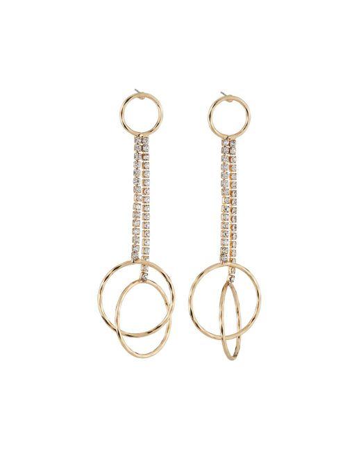 Fragments | Metallic Crystal Circle Drop Earrings | Lyst