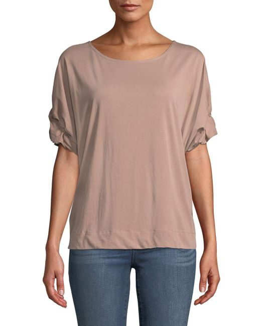 0249fd8eddc2d1 Bobeau - Multicolor Van Rolled-sleeve T-shirt - Lyst ...