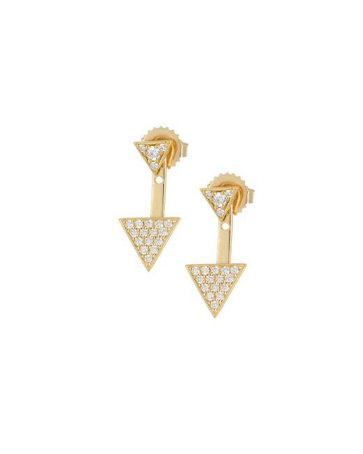Penny Preville - Metallic 18k Double Triangle Diamond Earrings - Lyst