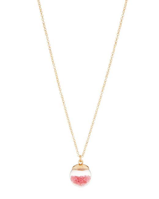 Lydell NYC - Multicolor Dark Fuchsia Globe Shaker Pendant Necklace - Lyst