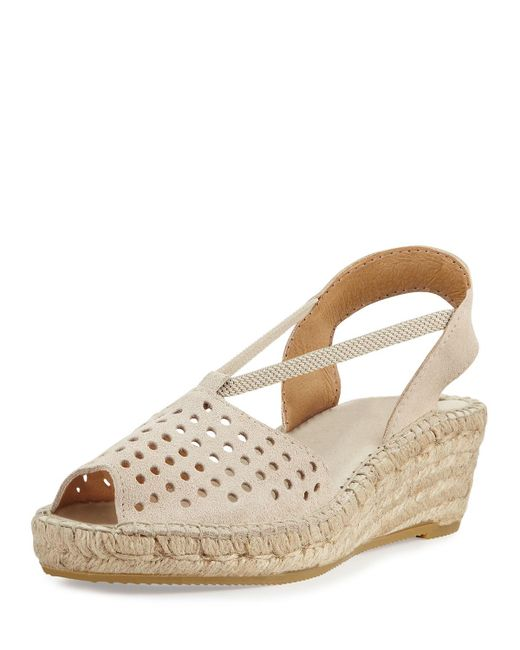 Andre Assous - White Corrine Suede Espadrille Wedge Sandal - Lyst