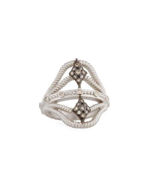 Armenta - Metallic New World Twisted Ring W/ Champagne Diamonds - Lyst