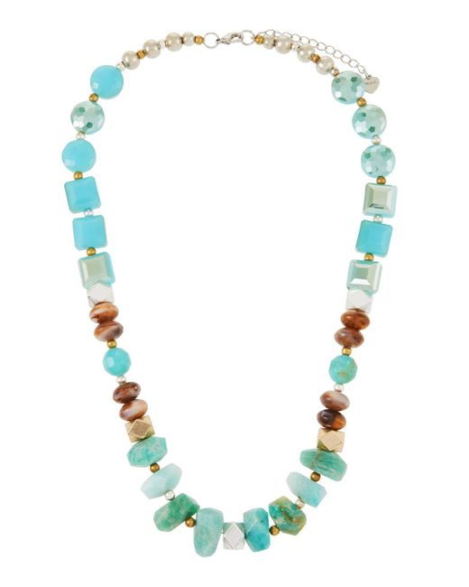 Nakamol - Blue Stone & Crystal Chunky Necklace - Lyst