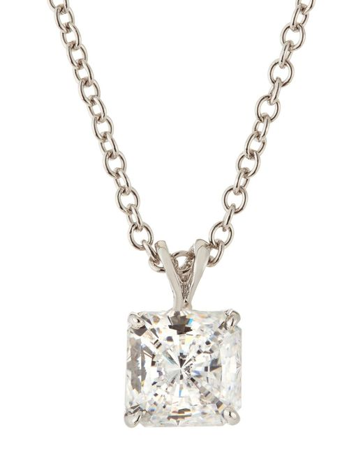 Fantasia by Deserio - Multicolor Princess-cut Cz Pendant Necklace - Lyst