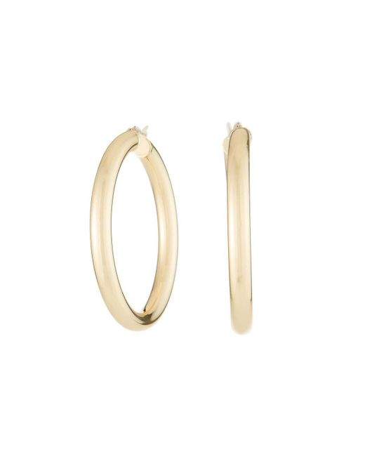 Fragments - Metallic Golden Hoop Earrings - Lyst