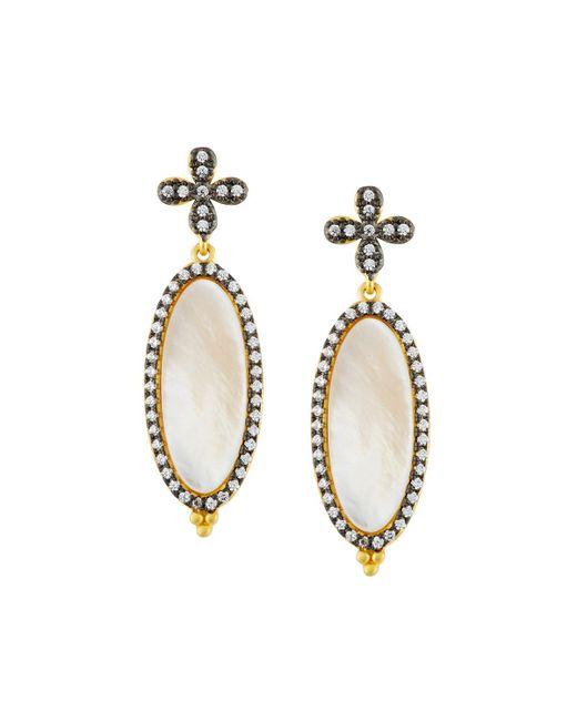 Freida Rothman - Metallic Oval Iridescent Drop Earrings - Lyst
