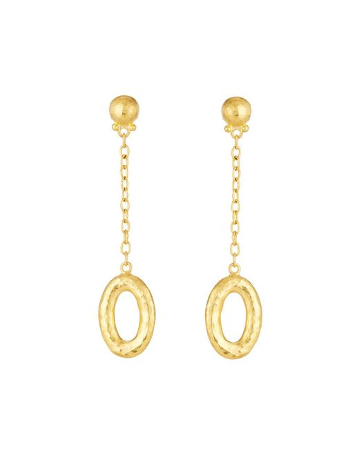Gurhan   Metallic Galahad Long Chain Drop 24k Earrings   Lyst