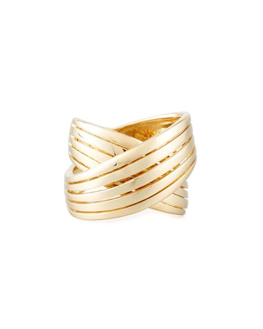 Roberto Coin | Metallic 18k Wide Crossover X Ring | Lyst