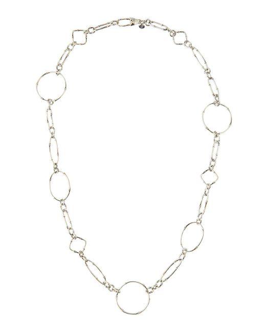 John Hardy - Metallic Bamboo Silver Sautoir Link Necklace - Lyst
