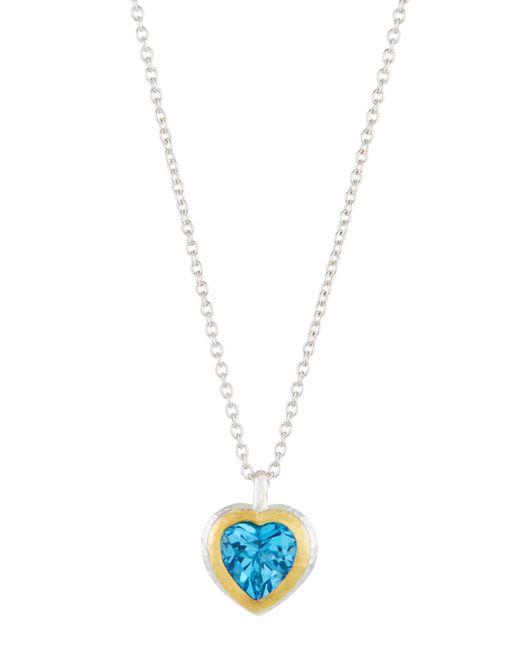 Gurhan - Romance Swiss Blue Topaz Heart Pendant Necklace - Lyst