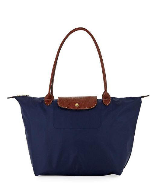 Longchamp - Blue Le Pliage Large Shoulder Tote Bag - Lyst