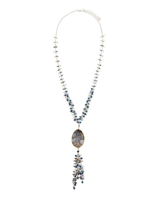 Nakamol - Blue Mixed-bead Druzy Pendant Necklace - Lyst