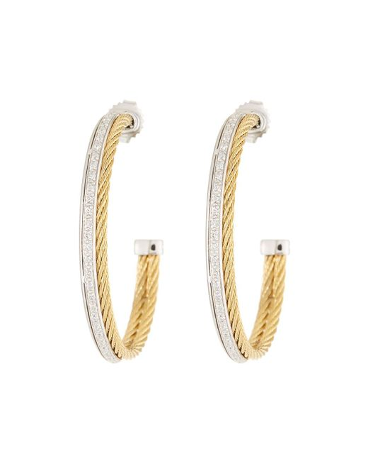 Alor - Metallic Classique Diamond Hoop Earrings - Lyst
