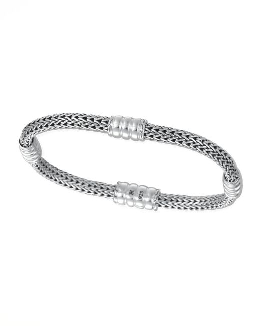 John Hardy - Metallic Bedeg Silver Extra Small Four-station Bracelet - Lyst