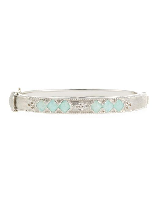 Jude Frances - Metallic Moroccan Sterling Silver Hinge Bracelet With Amazonite/moonstone Doublets - Lyst