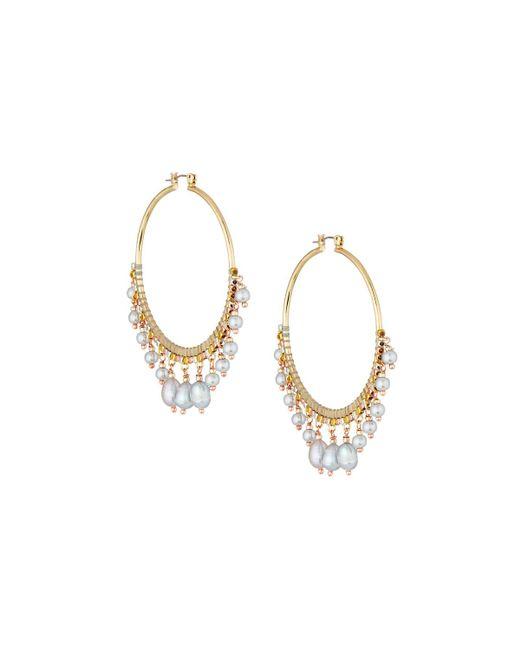 Nakamol - Metallic Multi-pearl Statement Earrings - Lyst