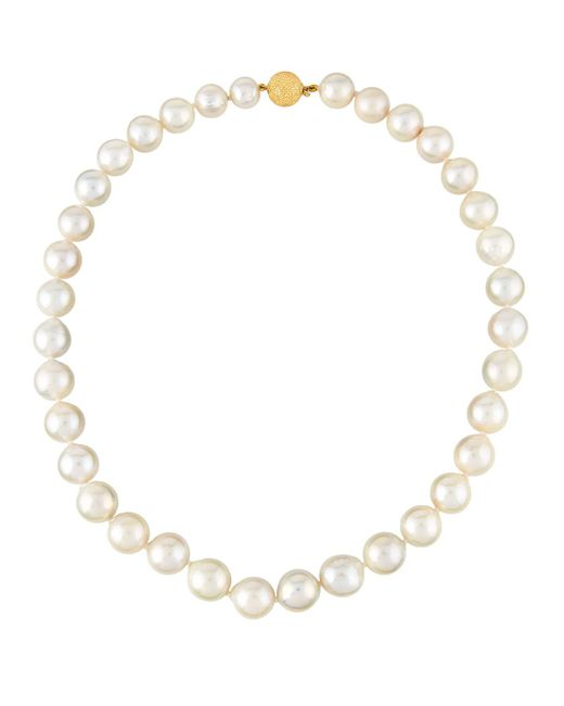 Belpearl | Natural 14k Graduated Cream Freshwater Pearl Necklace | Lyst