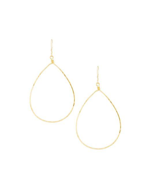 Panacea - Metallic Golden Teardrop Earrings - Lyst