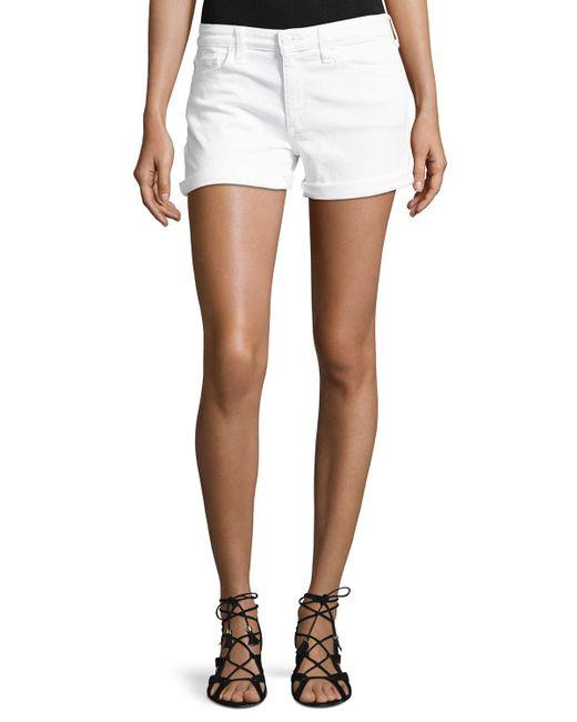 Joe's Jeans | White Rolled-cuff Denim Shorts | Lyst