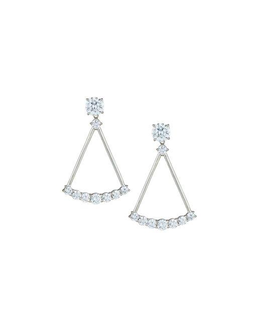 Fantasia by Deserio - Multicolor Crystal Open Drop Earrings - Lyst