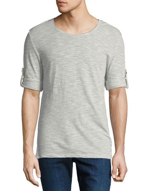 Antony Morato - Green Men's Striped Roll-sleeve Tee for Men - Lyst