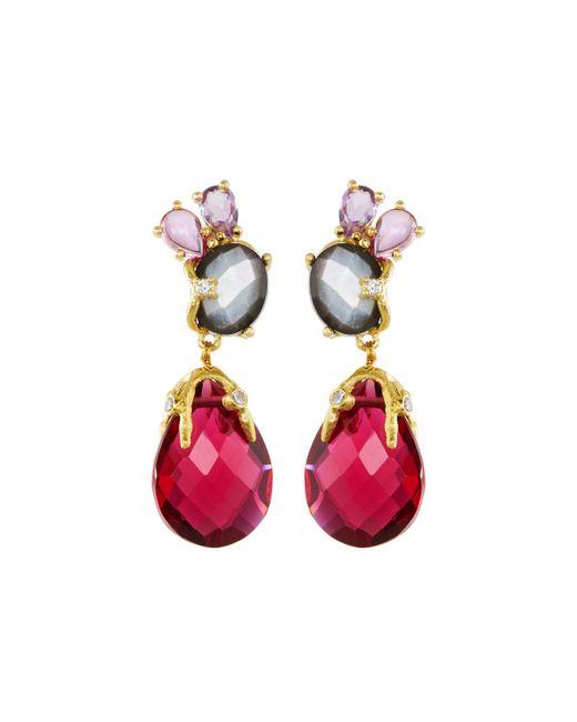 Indulgems | Multicolor Mixed Gemstone Statement Drop Earrings | Lyst