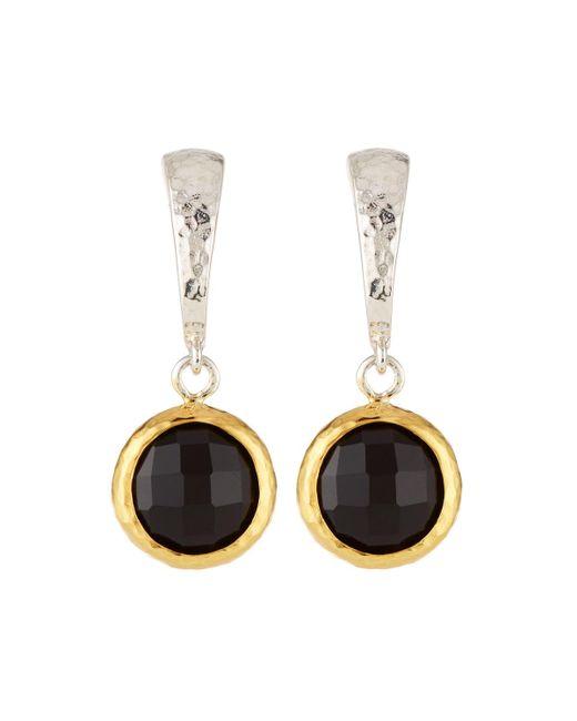 Gurhan - Small Wide Hoop Earrings W/ Black Onyx Drop - Lyst