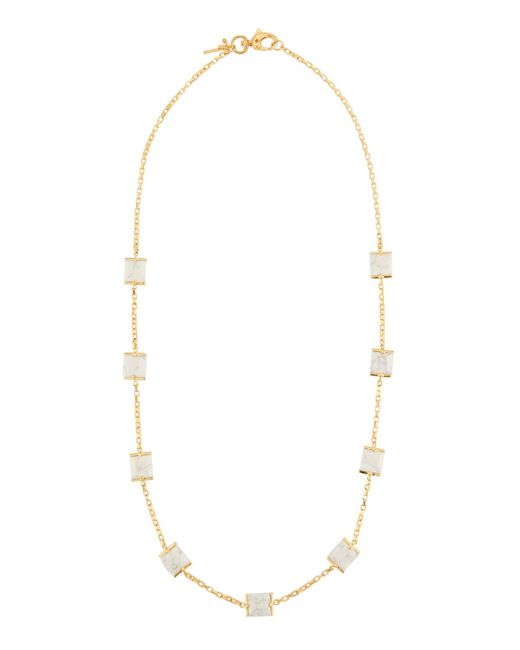 Lele Sadoughi | White Long Rosary Cube Necklace | Lyst