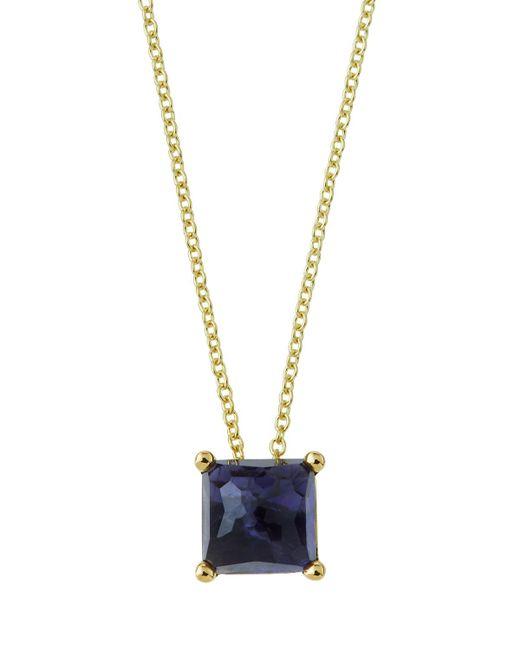 Ippolita - Purple 18k Gold Rock Candy Mini Single Square Sliding Pendant Necklace In Iolite - Lyst