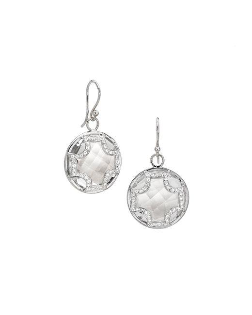 Elizabeth Showers | Metallic Quartz And Sapphire Maltese Earrings | Lyst