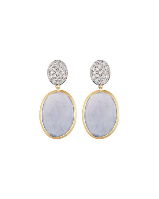 Marco Bicego | Multicolor Siviglia 18k Chalcedony Diamond Drop Earrings | Lyst